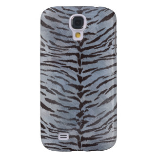 Tiger Skin in Silver Galaxy S4 Covers