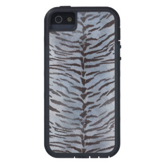 Tiger Skin in Silver iPhone 5 Case