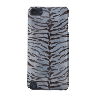 Tiger Skin in Silver iPod Touch (5th Generation) Case