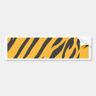 Tiger Skin Pattern Bumper Sticker