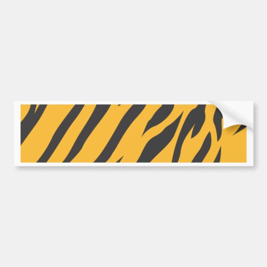 Tiger Skin Pattern Bumper Sticker