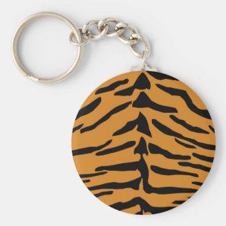 Tiger skin pattern key chains