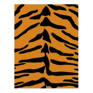 Tiger skin pattern postcard