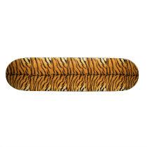 Tiger skin pattern skateboard