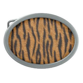 Tiger skin print design, Tiger stripes pattern Belt Buckles