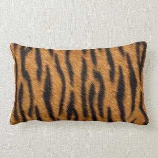 Tiger skin print design, Tiger stripes pattern Lumbar Pillow