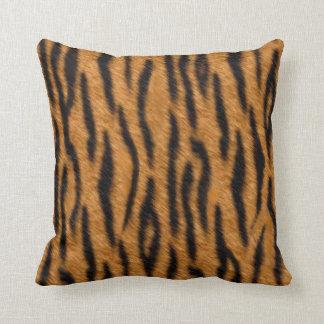 Tiger skin print design, Tiger stripes pattern Pillow