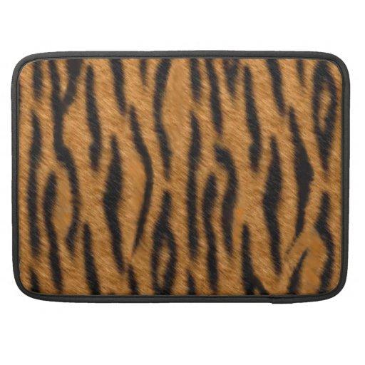 Tiger skin print design, Tiger stripes pattern Sleeves For MacBooks