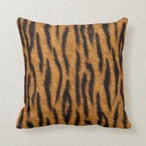 Tiger skin print design, Tiger stripes pattern Throw Pillow