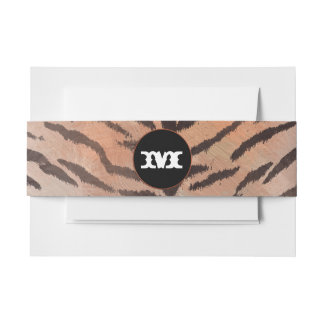 Tiger Skin Print in Apricot Invitation Belly Band