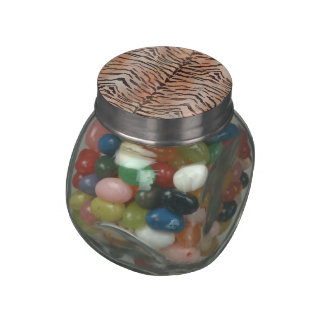 Tiger Skin Print in Apricot Jelly Belly Candy Jars