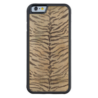 Tiger Skin Print in Ivory Carved Maple iPhone 6 Bumper Case