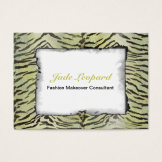 Tiger Skin Print in Lime Chartreuse Business Card