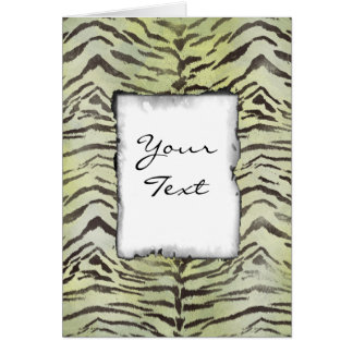 Tiger Skin Print in Lime Chartreuse Card