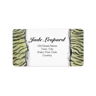 Tiger Skin Print in Lime Chartreuse Label