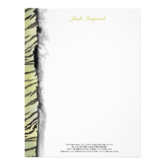 Tiger Skin Print in Lime Chartreuse Letterhead
