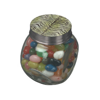 Tiger Skin Print in Lime Jelly Belly Candy Jars