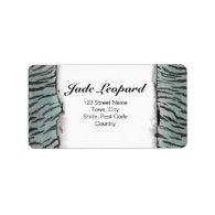 Tiger Skin Print in Minty Jade Address Label (<em>$4.00</em>)