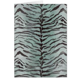 Tiger Skin Print in Minty Jade Card