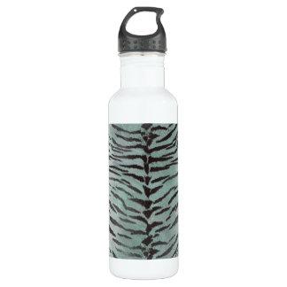 Tiger Skin Print in Minty Jade Water Bottle