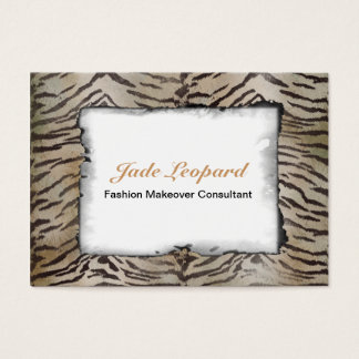 Tiger Skin Print in Natural ivory Business Card
