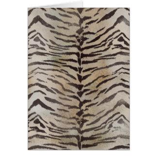 Tiger Skin Print in Natural ivory Card
