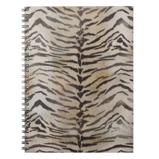 Tiger Skin Print in Natural ivory Spiral Notebook