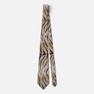 Tiger Skin Print in Natural Ivory Tie