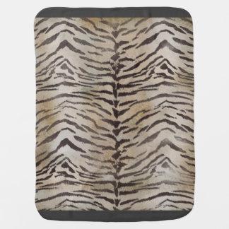 Tiger Skin Print in Natural Ivory Baby Blanket