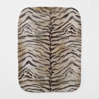 Tiger Skin Print in Natural Ivory Burp Cloth
