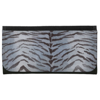 Tiger Skin Print in Silver Wallets