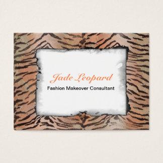 Tiger Skin Print in Tangerine Apricot Business Card