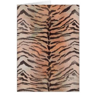 Tiger Skin Print in Tangerine Apricot Card