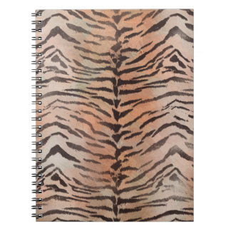 Tiger Skin Print in Tangerine Apricot Notebook