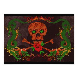 Tiger Skull Valentine Card