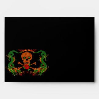 Tiger Skull Valentine Envelopes