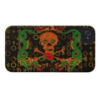 Tiger Skull Valentine iPhone 4 Case