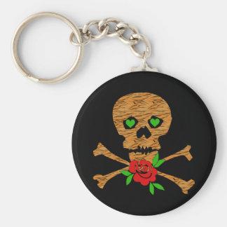 Tiger Skull Valentine Keychain