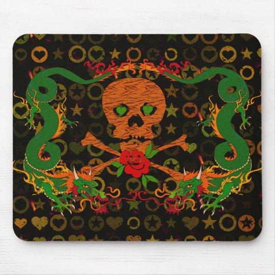 Tiger Skull Valentine Mouse Pad