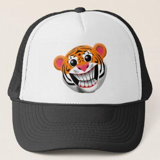 TIGER SMILEY FACE TRUCKER HAT
