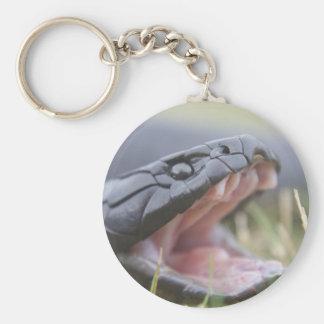 Tiger Snake Basic Round Button Keychain