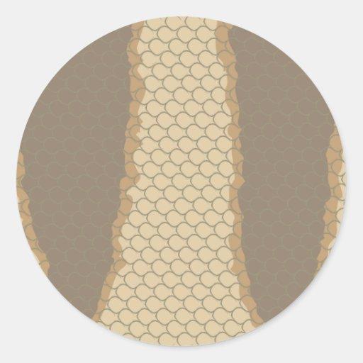 Tiger Snake Skin Pattern Classic Round Sticker
