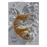 "Tiger ""Snow Angel"" Holiday Card"