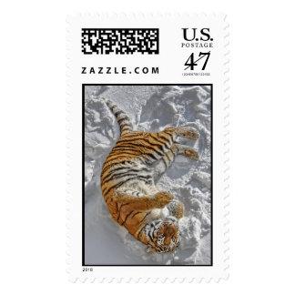 Tiger Snow Angel Postage