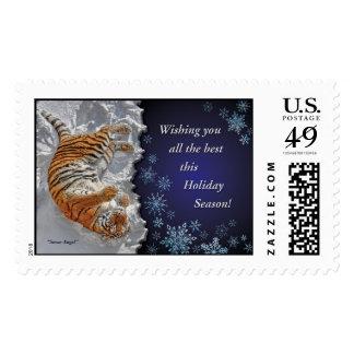 Tiger Snow Angel Stamp