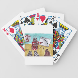 Tiger Space Lines Bicycle Playing Cards