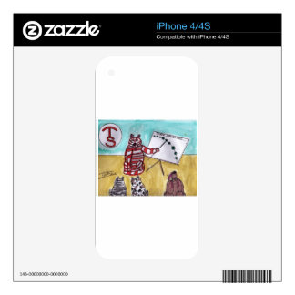 Tiger Space Lines iPhone 4S Skin