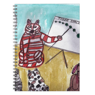 Tiger Space Lines Spiral Note Books