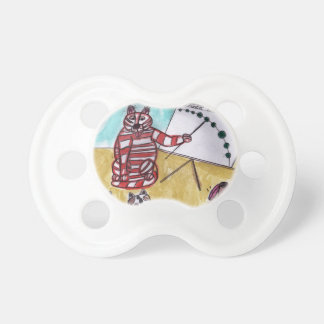 Tiger Space Lines Pacifier