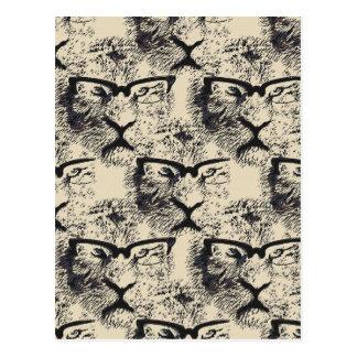 Tiger Specs Pattern Postcard
